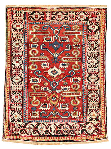 A Shirvan rug Caucasus size approximately 3ft. 1in. x 4ft. 2in.