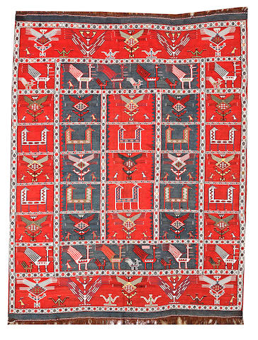 A Verneh rug Caucasus size approximately 4ft. 4in. x 5ft. 9in.