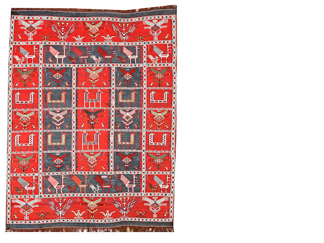 A Verneh rug Caucasus size approximately 3ft. 1in. x 4ft. 2in.