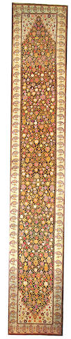 A Karabagh runner Caucasus size approximately 3ft. 6in. x 20ft. 7in.