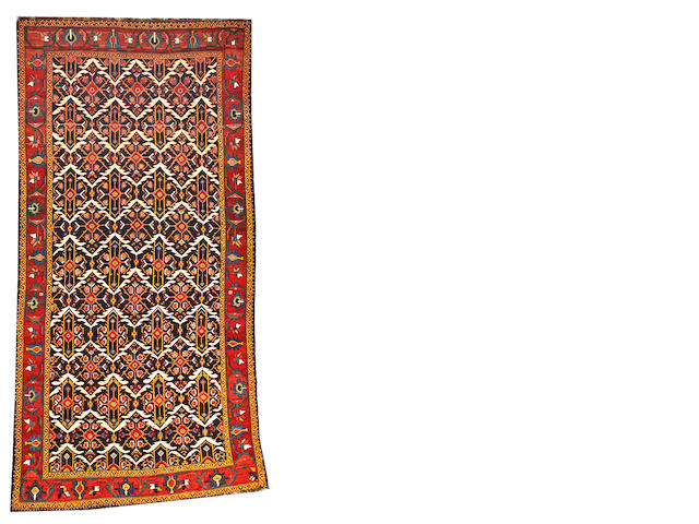 A Bakhtiari long carpet  Southwest Persia size approximately 7ft. 6in. x 15ft.