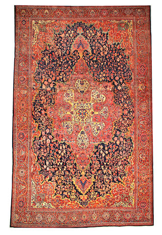 A Fereghan carpet  Central Persia size approximately 12ft. 3in. x 19ft.