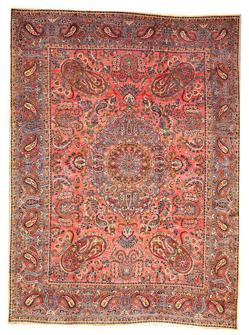 A Lavar Kerman carpet  Central Persia size approximately 8ft. 7in. x 11ft. 9in.