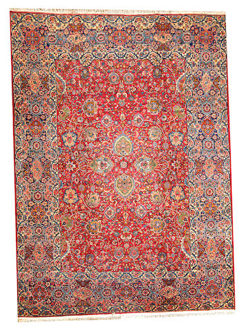 A Lavar Kerman carpet Central Persia size approximately 8ft. 9in. x 12ft. 1in.
