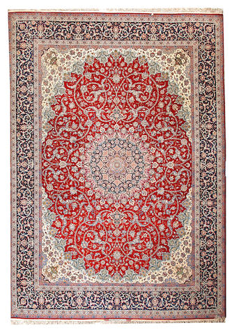 An Isphahan carpet  Central Persia size approximately 10ft. 4in. x 14ft. 9in.