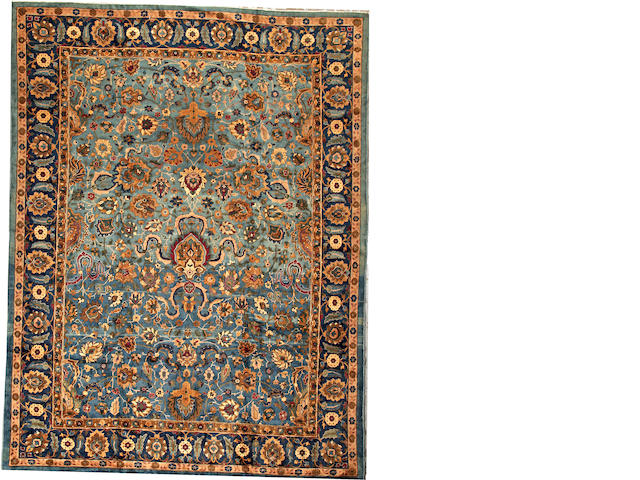 A Lahore carpet  India size approximately 9ft. x 11ft. 10in.