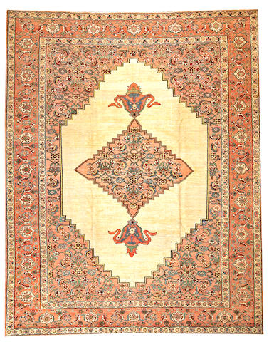 A Serapi carpet  Northwest Persia size approximately 9ft. 1in. x 11ft. 5in.