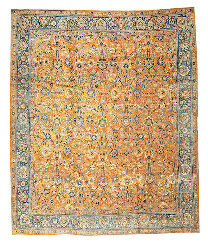 A Lavar Kerman carpet South Central Persia size approximately 10ft. 4in. x 12ft. 7in.