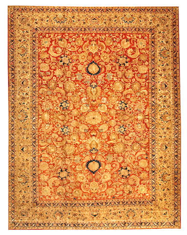A Tabriz carpet Northwest Persia size approximately 10ft. 8in. x 13ft. 10in.