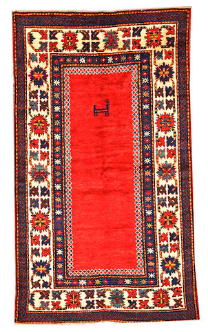 A Kazak rug Caucasus size approximately 4ft. 7in. x 7ft. 10in.