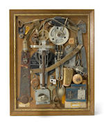 Louis Goodman, Ultrabrite, mixed media assemblage; Louis Goodman, Unknown, 1950, assemblage (2)