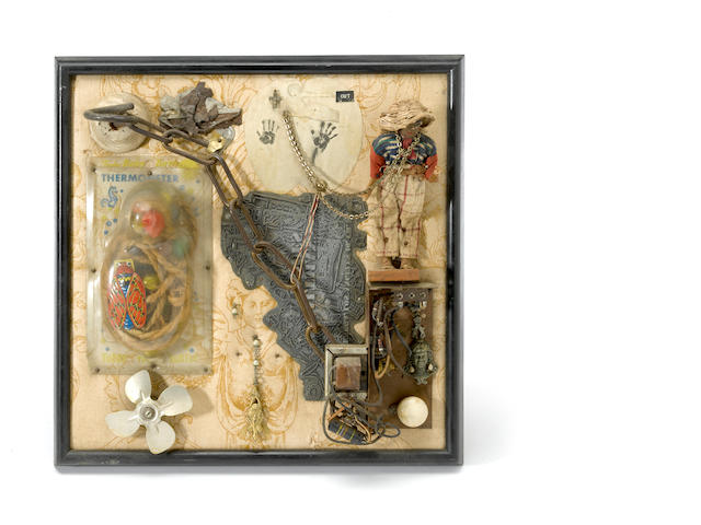 Louis Goodman, Handles, 1950, assemblage; Louis Goodman, Unknown, 1950, assemblage (2)