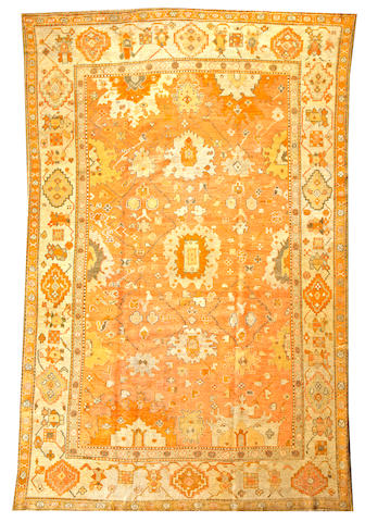 An Oushak carpet  West Anatolia size approximately 8ft. x 12ft.