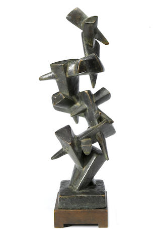 Jacques Schnier (1898-1988) Triangular Wedges, #2, 1962 26 x 10 1/2 x 7 1/2in (66 x 26.7 x 19.1cm)  height with base 28 1/2in (72.4cm)