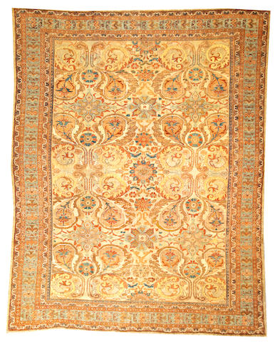 A Mahal carpet Central Persia size approximately 9ft. x 11ft. 3in.