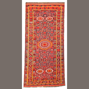 A Beshir long carpet  Turkestan size approximately 5ft. 10in. x 12ft. 10in.