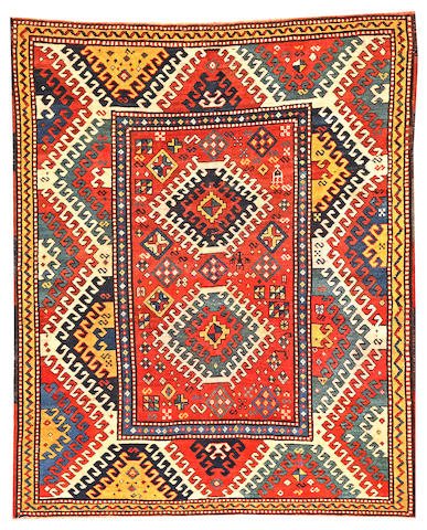A Borchalu Kazak rug  Caucasus size approximately 4ft. 9in. x 5ft. 10in.
