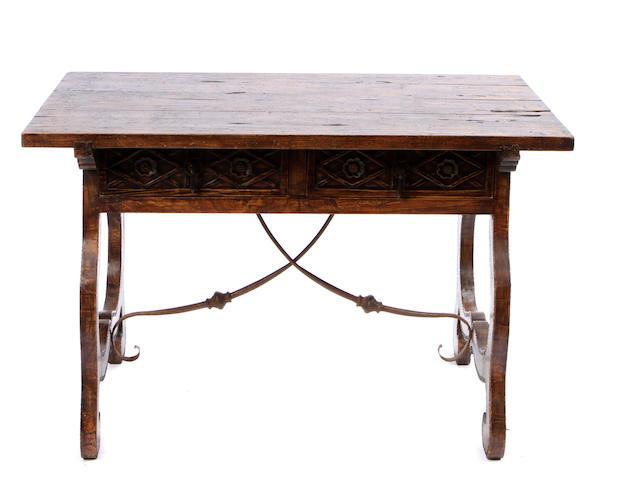 A Spanish Renaissance style trestle table