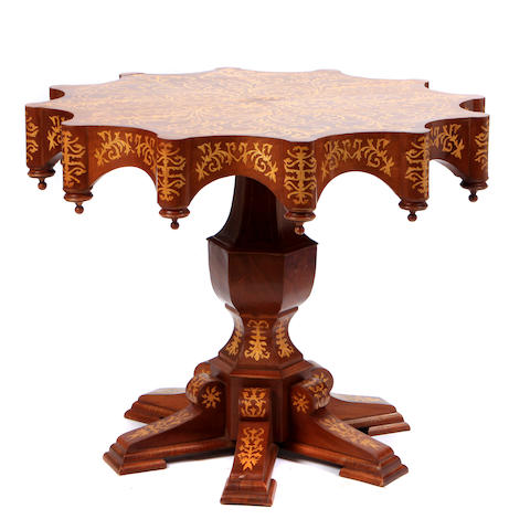An Italian Renaissance style inlaid center table