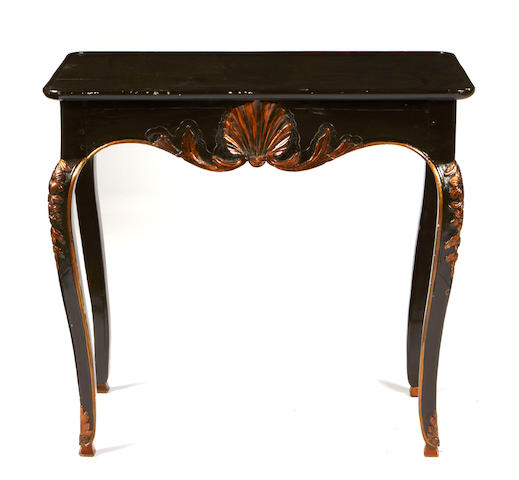 A Rococo style chinoiserie decorated table