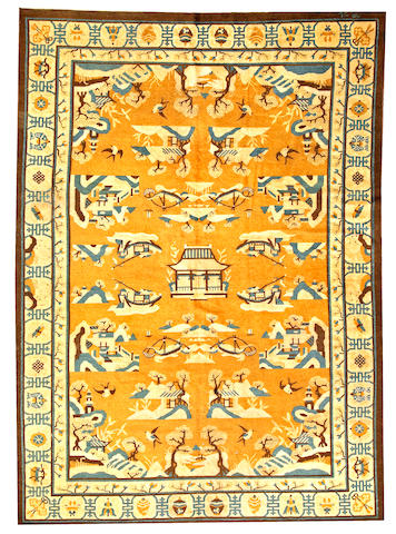 A Chinese carpet China size approximately 7ft. x 9ft. 7in.