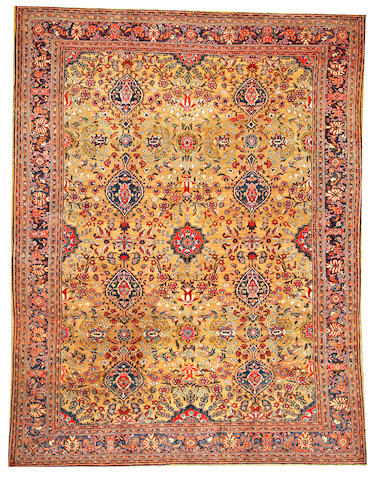 A Fereghan Sarouk carpet  Central Persia size approximately 9ft. 3in. x 12ft.