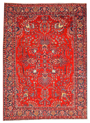 A Mohajaron Sarouk carpet Central Persia size approximately 9ft. 2in. x 12ft. 5in.