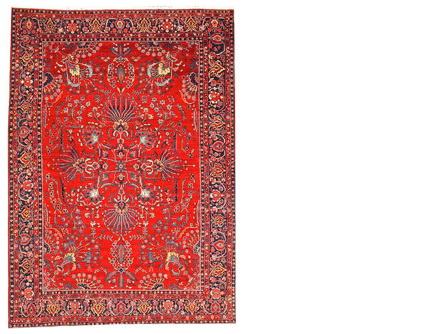 A Mohajaron Sarouk carpet  Central Persia size approximately 8ft. 2in. x 12ft. 5in.