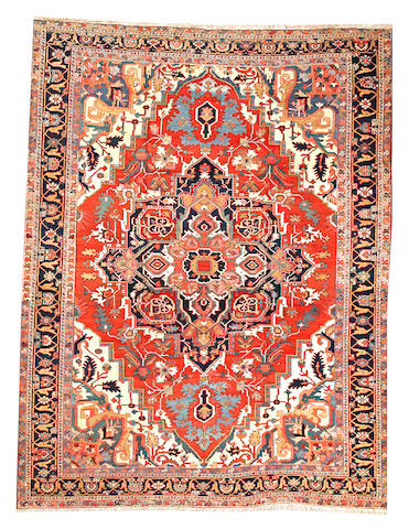 A Heriz carpet  Northwest Persia size approximately 9ft. 5in. x 12ft. 3in.