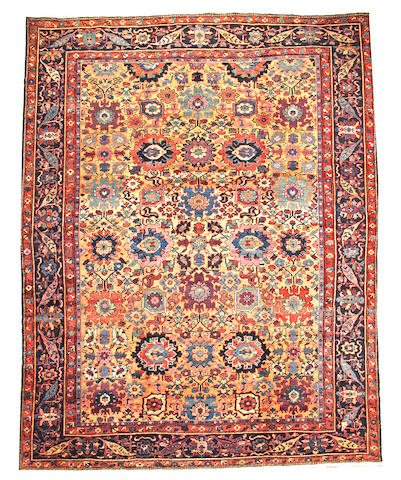 A Mahal carpet  Central Persia size approximately 10ft. 8in. x 14ft.