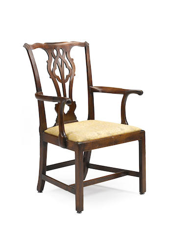 A George III mahogany armchair third quarter 18th century