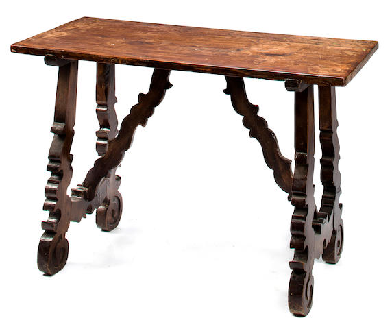 A Spanish Baroque walnut table<BR />17th century