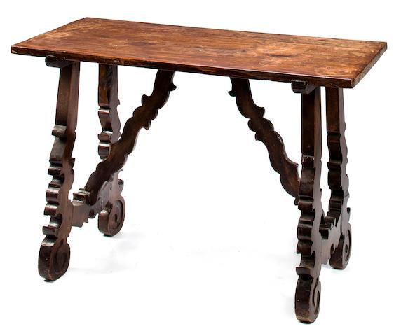 A Spanish Baroque walnut table<BR />17th century