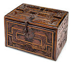 A Hispanic Baroque carved and inlaid table cabinet<BR /> 17th century