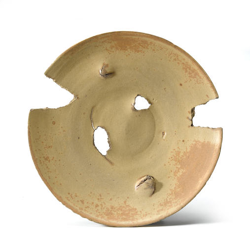 Peter Voulkos (1924-2002) Untitled (Plate), 1973 (CR704.86-G) diameter 20 1/2in (52.1cm)