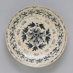 An Annamese blue and white ceramic dish  16th century