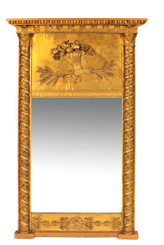 A Continental Neoclassical giltwood pier mirror