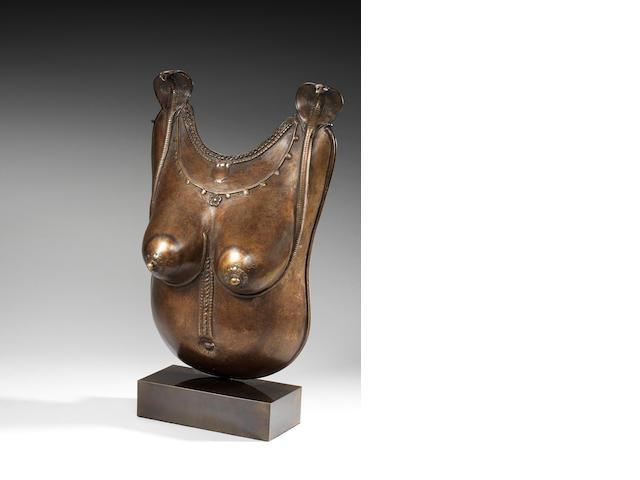 Bronze female torso plate Tamil Nadu