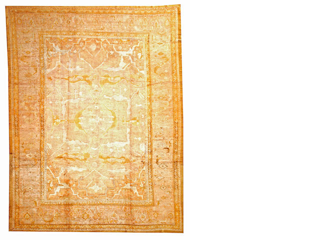 An Angora Oushak carpet  West Anatolia size approximately 9ft. 8in. x 12ft. 6in.