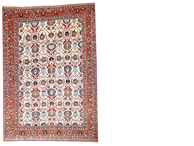 A Tabriz carpet  Northwest Persia size approximately 7ft. 2in. x 10ft. 2in.