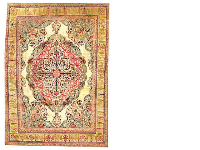 A Lavar Kerman South Central Persia size approximately 9ft. x 12ft. 5in.