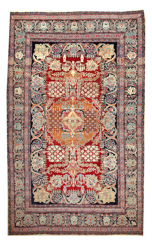 A Yazd carpet Central Persia size approximately 9ft. 2in. x 14ft. 10in.
