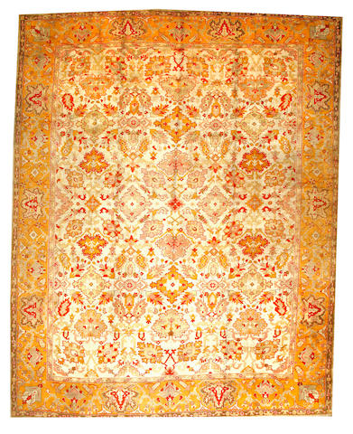 An Oushak carpet West Anatolia size approximately 13ft. x 16ft. 7in.