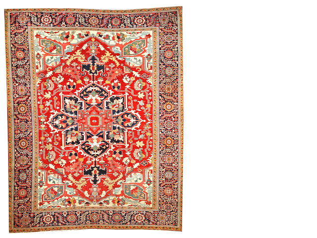 A Serapi carpet  Northwest Persia size approximately 9ft. 6in. x 11ft. 9in.