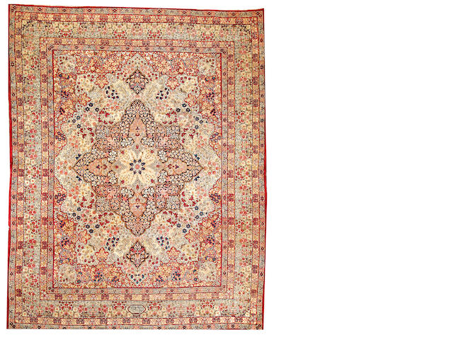 A Lavar Kerman carpet  South Central Persia size approximately 9ft. x 11ft. 5in.