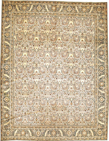 A Tabriz carpet  Northwest Persia size approximately 9ft. 8in. x 12ft. 5in.