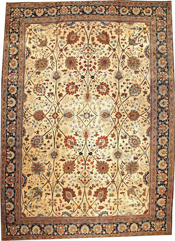 A Tabriz carpet  Northwest Persia size approximately 12ft. 10in. x 17ft. 10in.