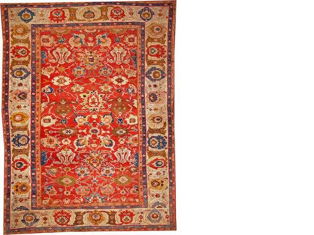 A Sultanabad carpet Central Persia size approximately 10ft. 10in. x 14ft. 7in.