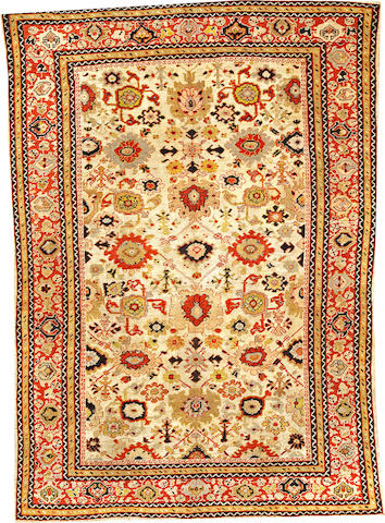 A Sultanabad carpet Central Persia size approximately 6ft. 7in. x 9ft. 4in.
