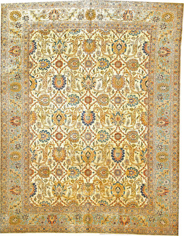 A Tabriz carpet  Northwest Persia size approximately 9ft. 6in. x 12ft. 4in.